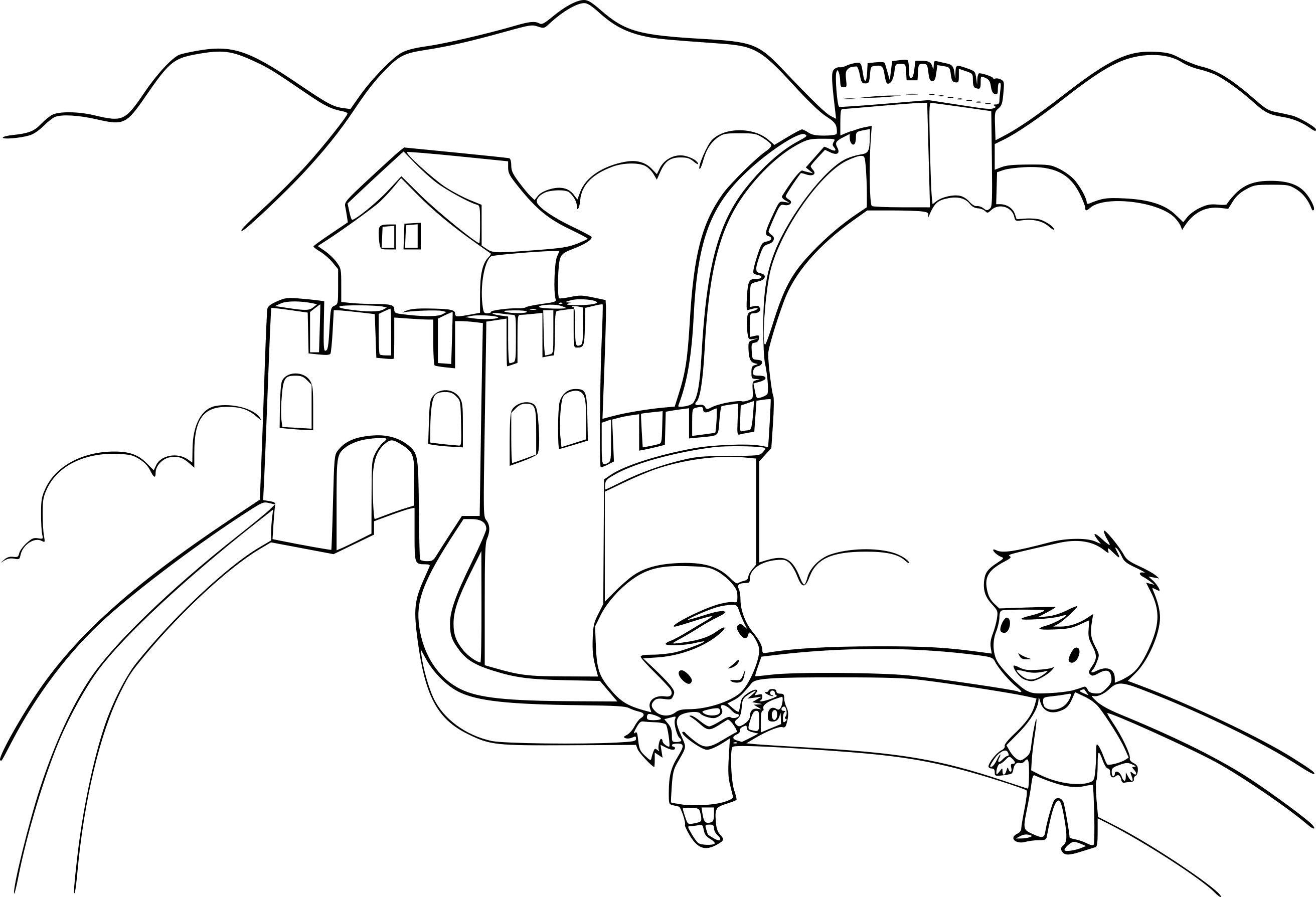 Grande Muraille De Chine Dessin Coloriage Grande Muraille De