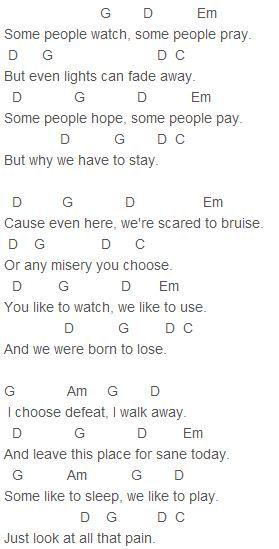 Teenagers guitar chords