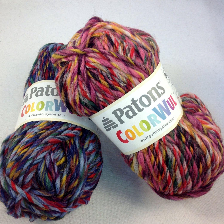 Patons Colorwul - 100% Wool Bulky Yarn by TheFabricAndYarnLady on ...