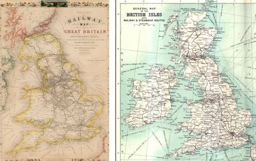 railway map 1850 copy   North East England Maps   Pinterest     railway map 1850 copy