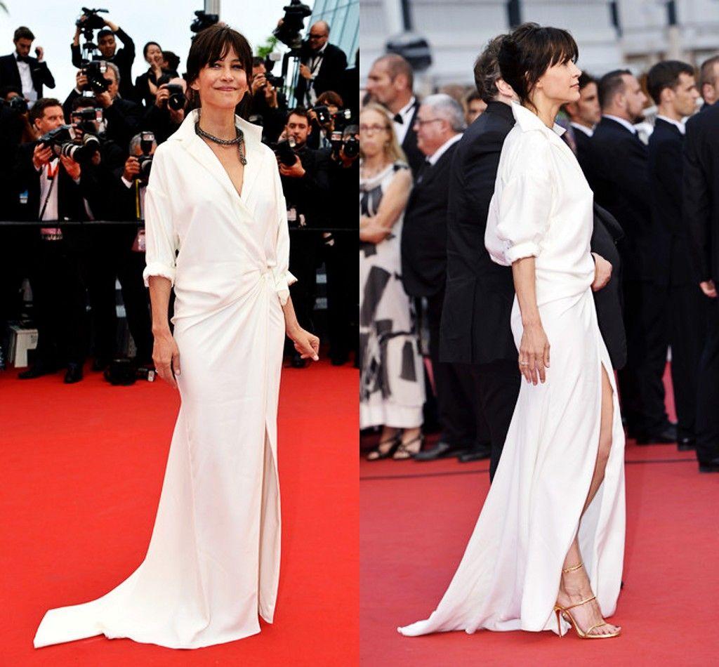 Sophie Marceau white shirt dress 2015 Cannes | ♥ Red Carpet ...