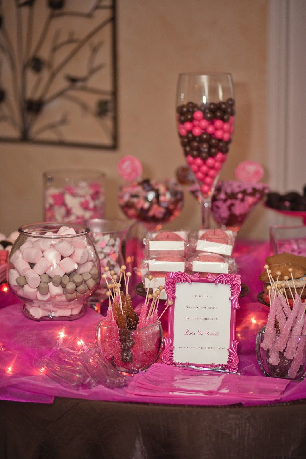 Enjoyable Pink And Brown Candy Buffet Weddings Pink Candy Buffet Download Free Architecture Designs Rallybritishbridgeorg
