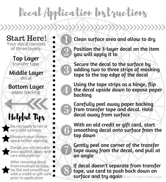 Image Result For Printable Vinyl Application Instructions  Cricut