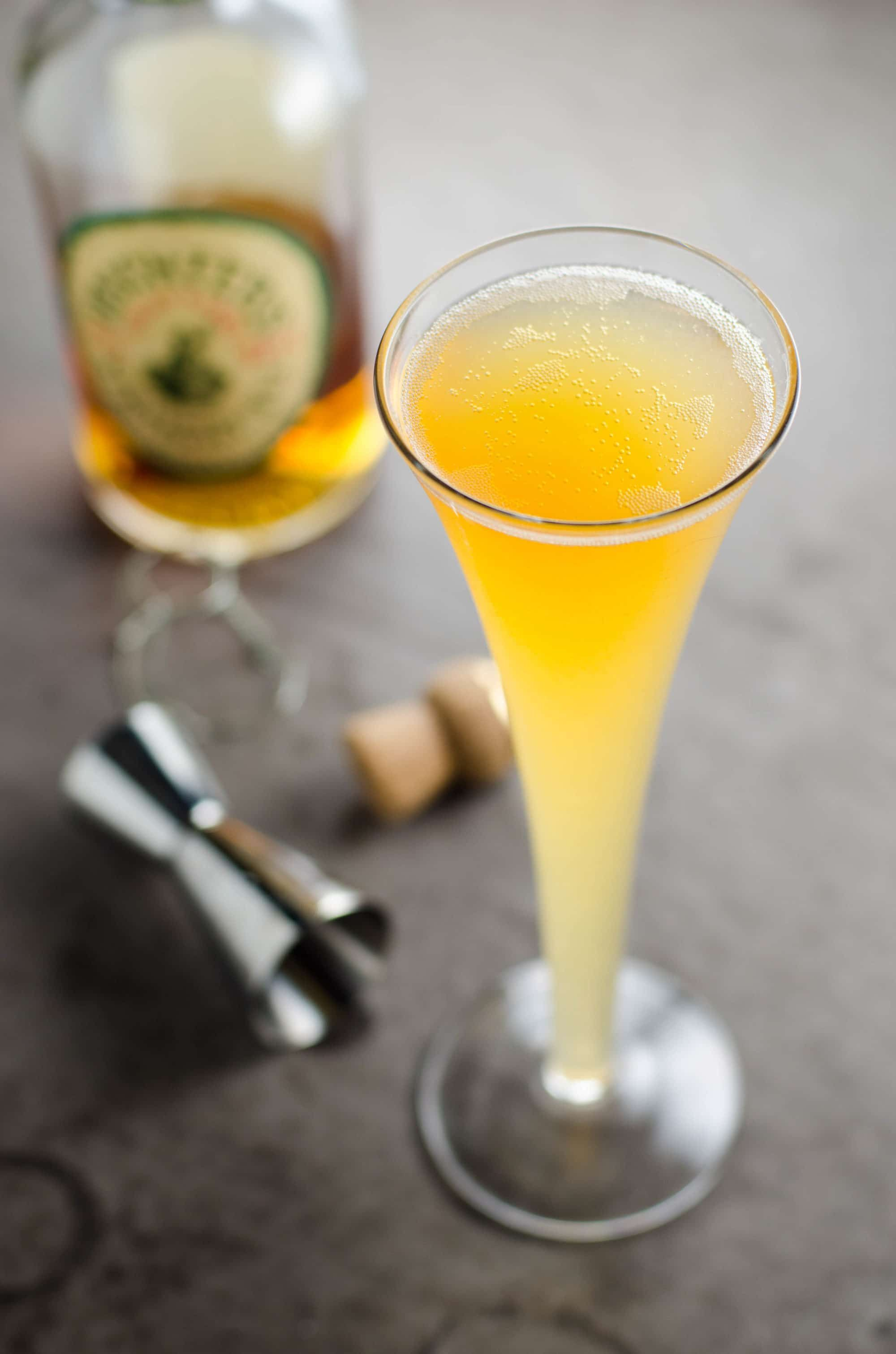 Apple Cider/ Whiskey/ Champagne Cocktail