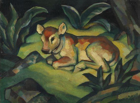 Kälbchen, 1923 by Harold Bengen (German 1879 - 1962)