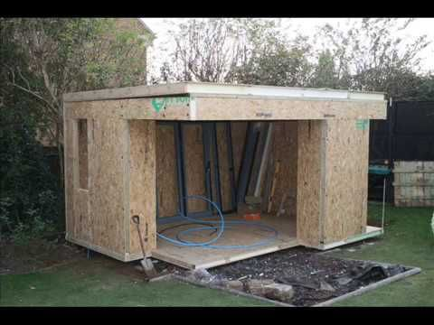 Great Home Office Garden Studio Extension Building   YouTube