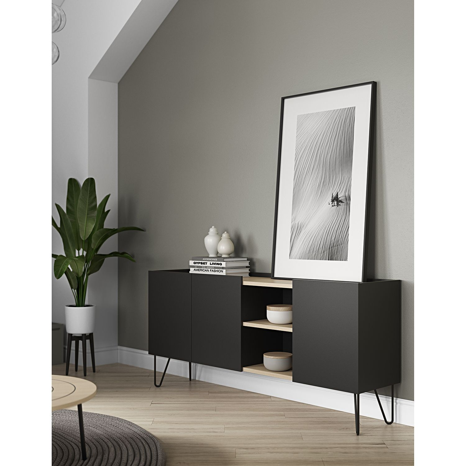 Sideboards Wohnzimmer Sideboard Online Kaufen Sideboard Nina Black Living Room Apartment Interior Home