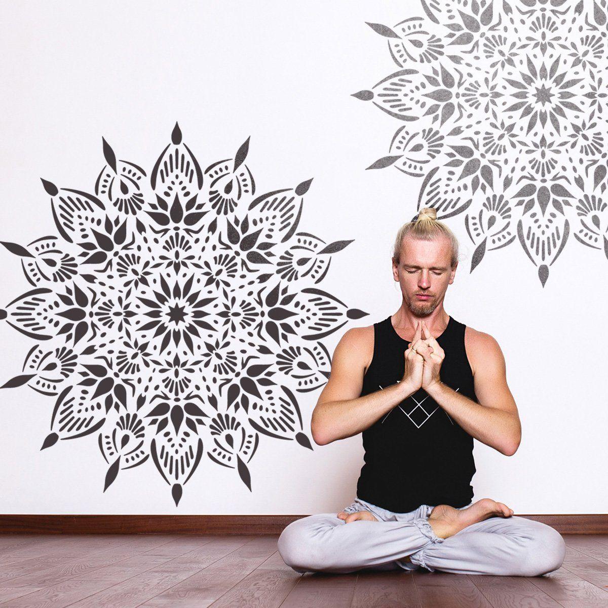 Reflections Mandala Stencil by CraftStar Large Reusable DIY Mandala Template
