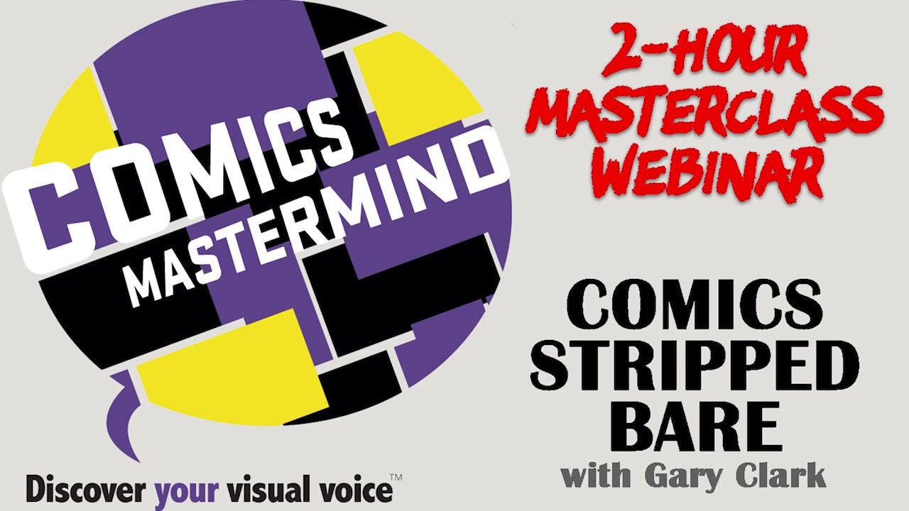 Comics Mastermind have asked Gary Clark to teach a 2 hour Masterclass on specific insights on his cartooning knowledge especially for cartoonists and comics creators. #cartoons #learning #cartoonclasses