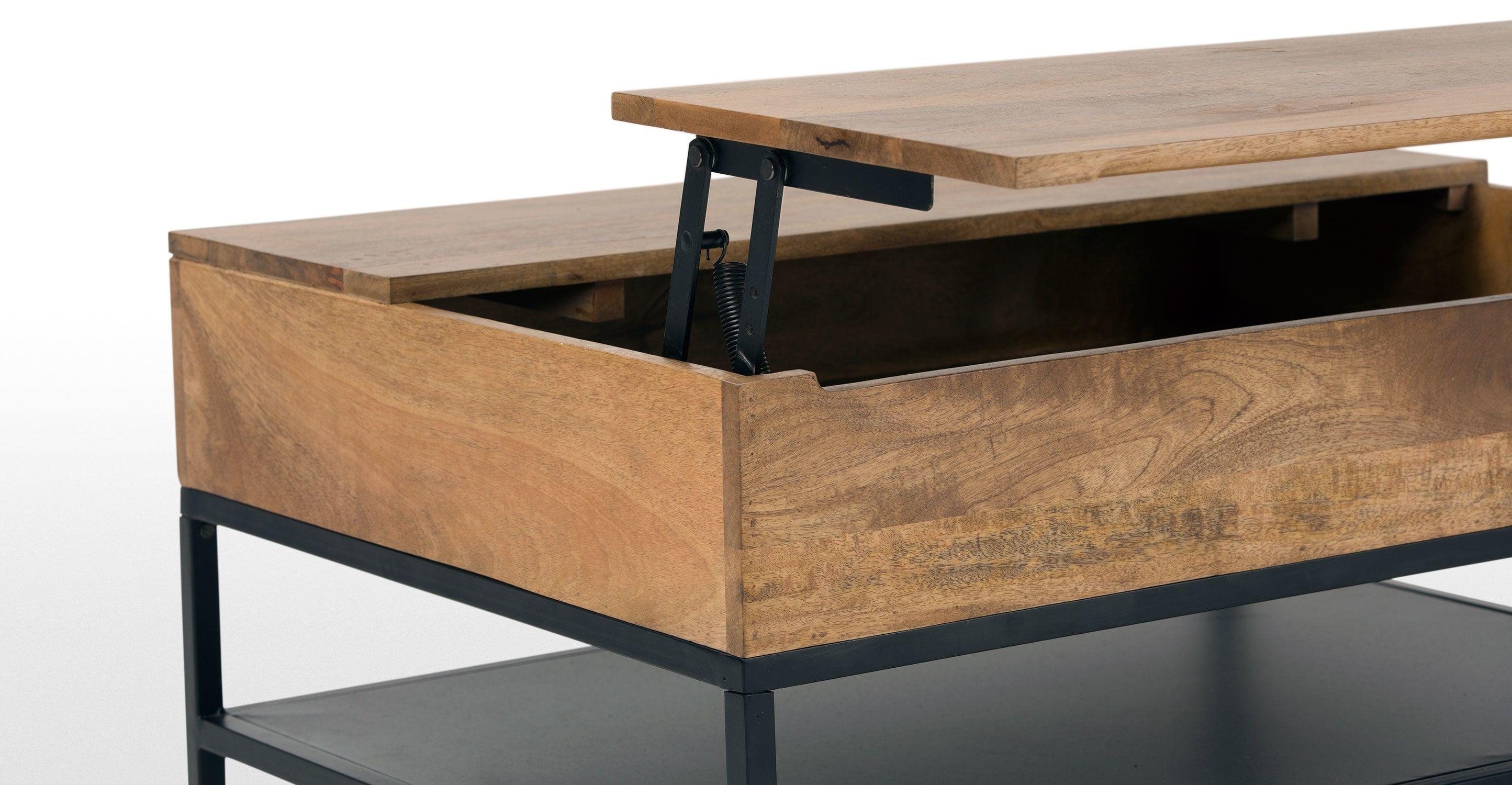 Table De Salon Avec Coffre   Lomond Table Basse Modulable Avec Coffre De Rangement Bois De