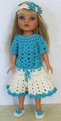 Crochet Doll Dress Outfit #dolldresspatterns