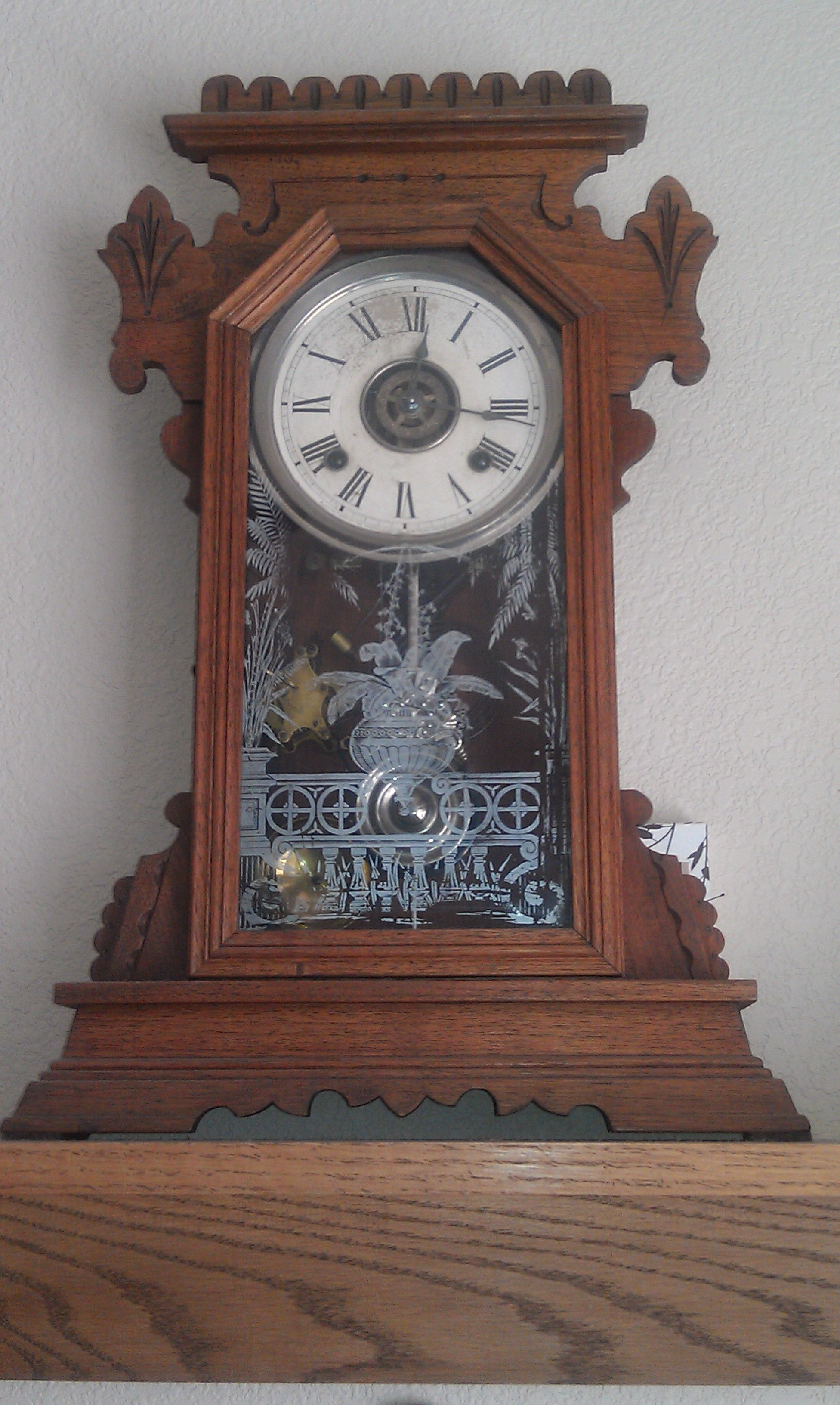 gilbert kitchen clock bar chairs 1880 39s ansonia we have had this old in our