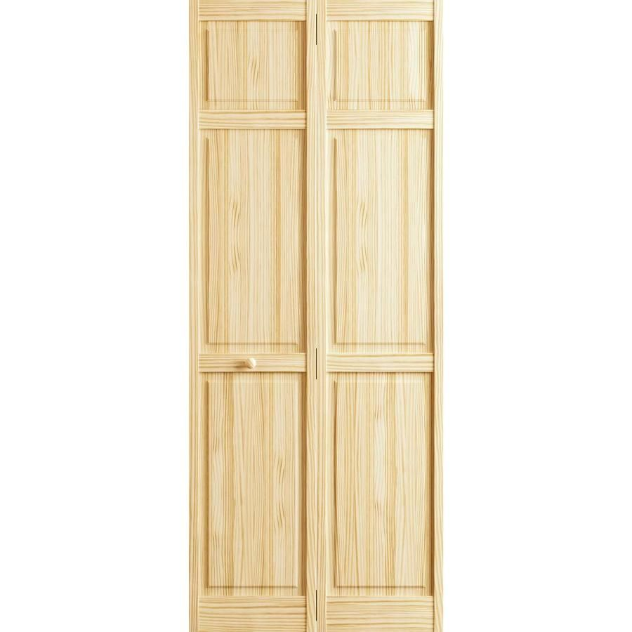 Reliabilt Unfinished 6 Panel Wood Pine Bifold Door Hardware Included Common 36 In X 80 In Actual 36 In X 80 In 3115 In 2020 Sliding Barn Door Hardware Interior Barn Doors Bifold Door Hardware