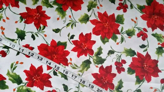Floral fabric with flowers cotton print quilt sewing quilting material for crafts crafting projects by the yard  BTY quilters fabric green