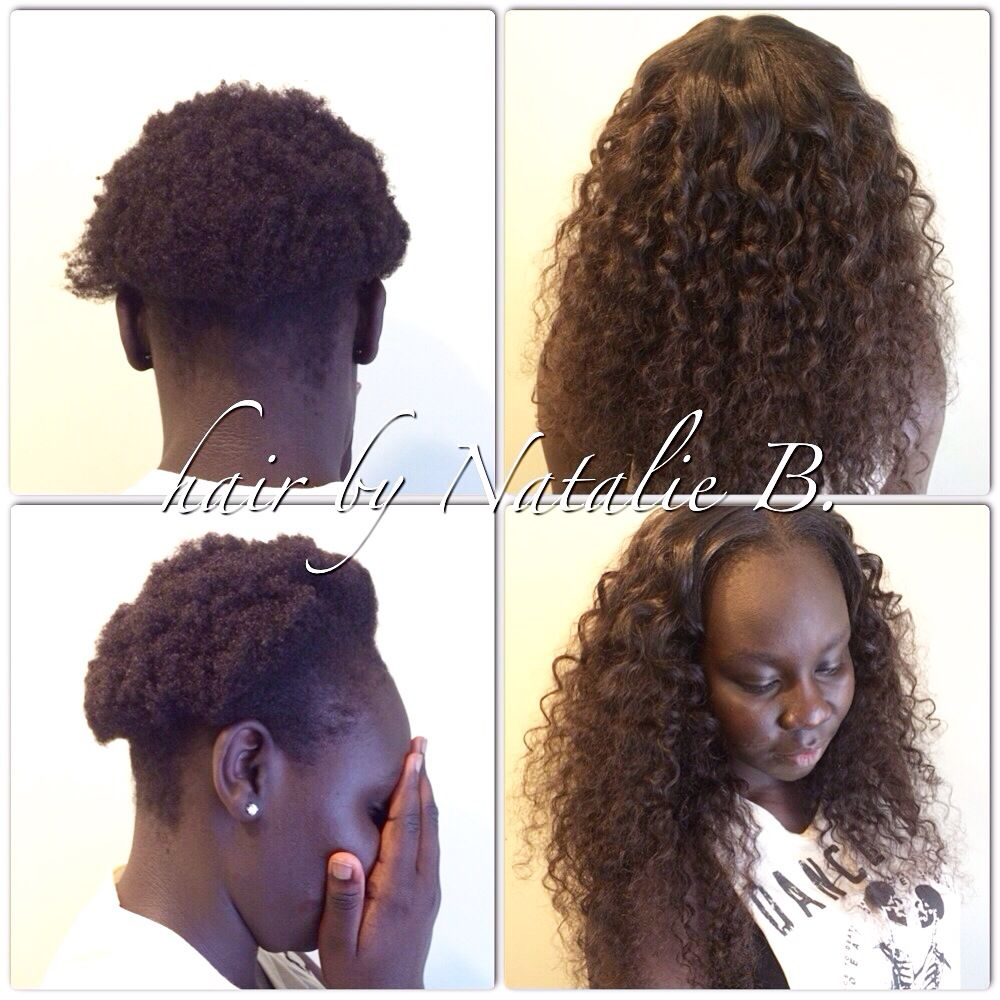Amazing Before After Flawless Sew In Hair Weaves By Natalie B