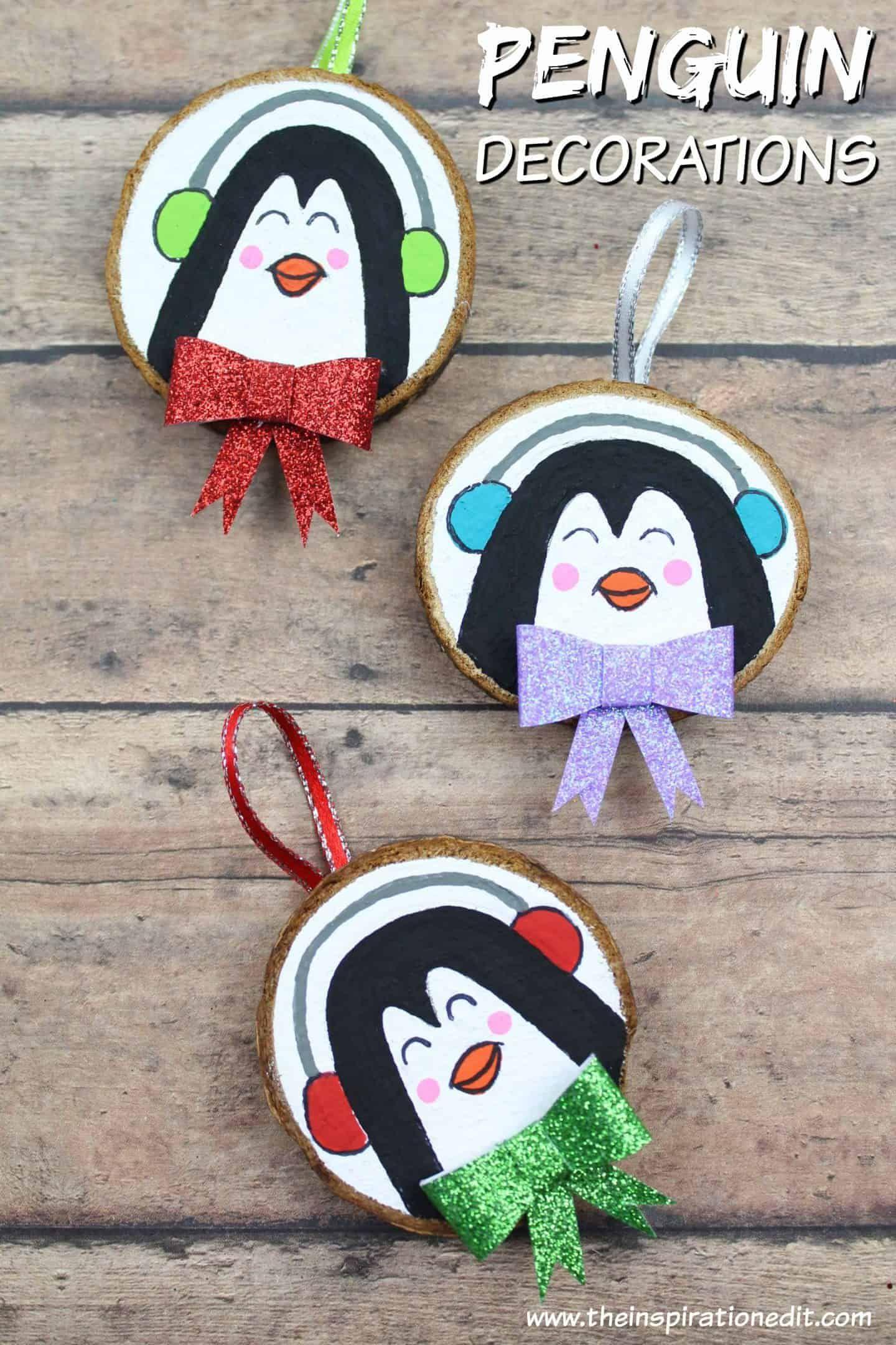 Diy Penguin Decoration Craft For Christmas Penguin Decor Diy