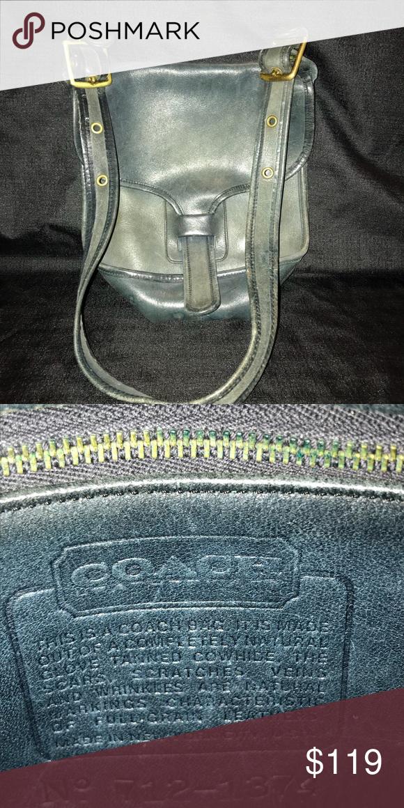 Spotted while shopping on Poshmark  Dark Blue Genuine Leather Coach Bag!   poshmark  fashion  shopping  style  Coach  Handbags 2368046641
