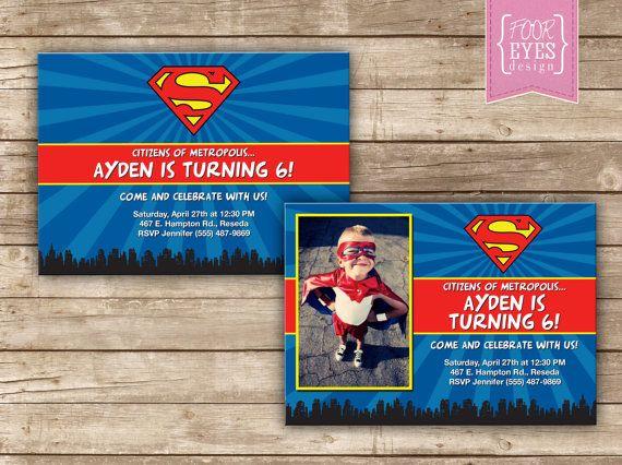 Inspirational Superman Birthday Invitations Images Superman Invite