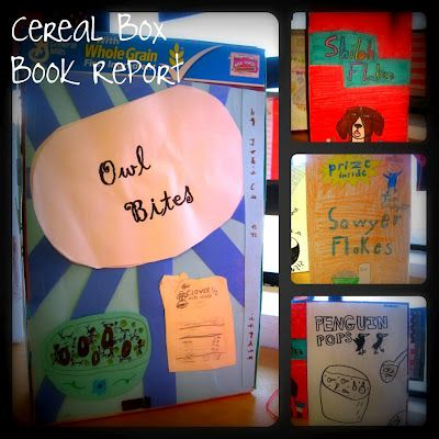 cereal box commercial book reports Cereal box book report front of box  invent a name for the cereal that is  related to the title of the book and sounds like a cereal  cereal box commercial.