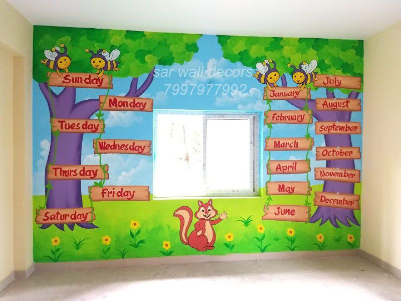 Class Room Wall Painting School Wall Art School Painting Room Wall Painting