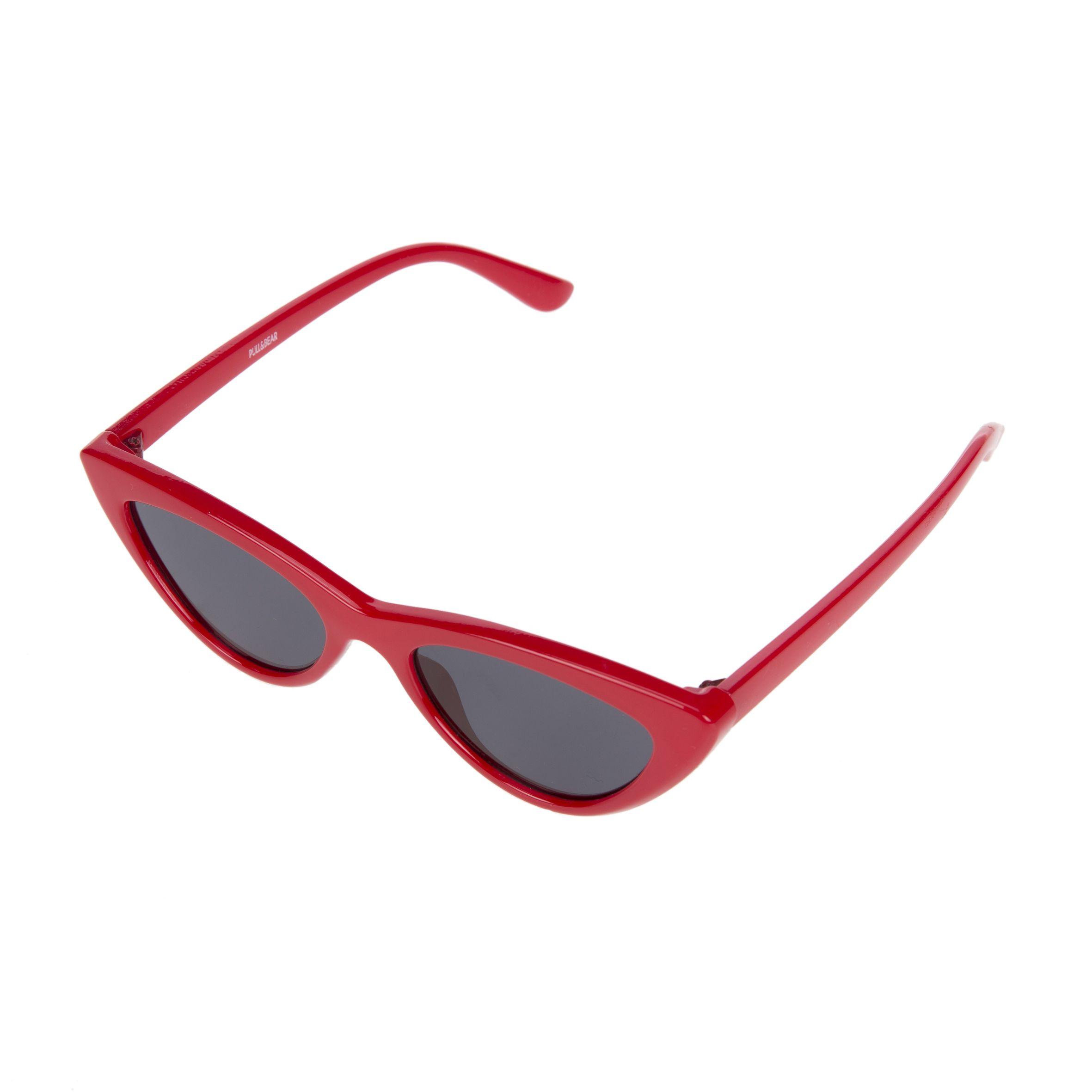 diseño de calidad be0bf b6e32 Gafas de sol de ojos de gato en pasta roja, de Pull & Bear ...