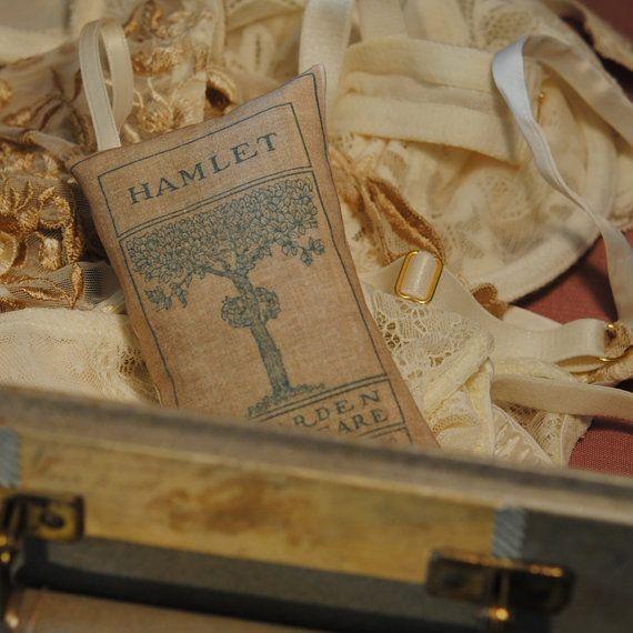Book Sachet Hamlet by theshophouse on Etsy