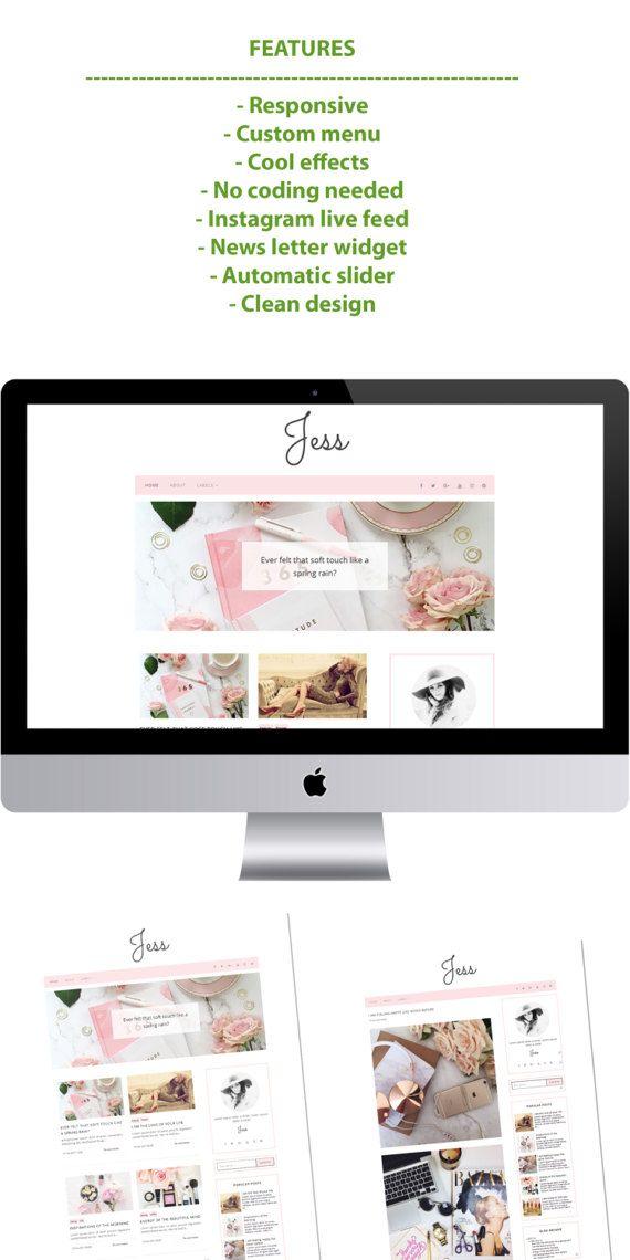 Jess - Minimal Blogger Template Responsive Design Custom Blogger ...