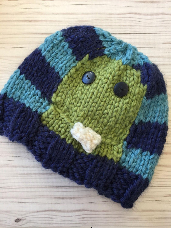 fb75dd2c2b4da Monster navy light blue green kid toddler baby hat Baby Gift Newborn Hat  Beanie