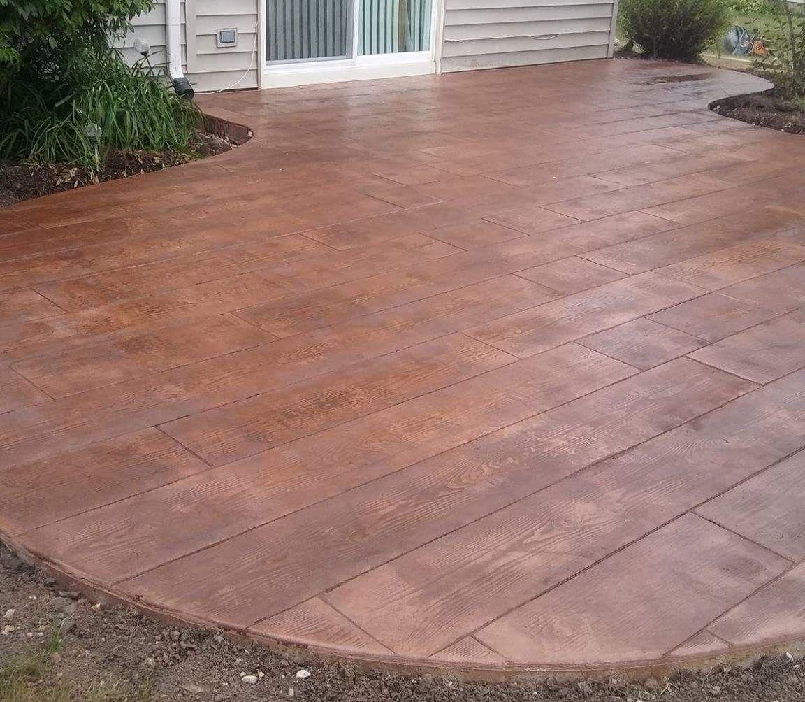 Wood stamped concrete patio, by Kessel Concrete Construction ...