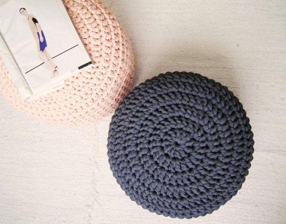 Light Pink Pouf Ottoman Pouf Footstool Floor Cushion Nursery Decor