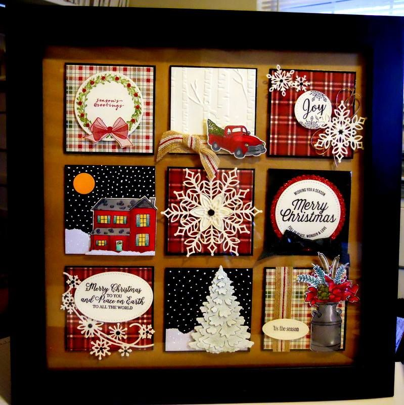 Karen Barber 12 X 12 3 Inch Squares Frame From Michaels Diy Christmas Gifts Diy Christmas Gifts For Dad Christmas Shadow Boxes