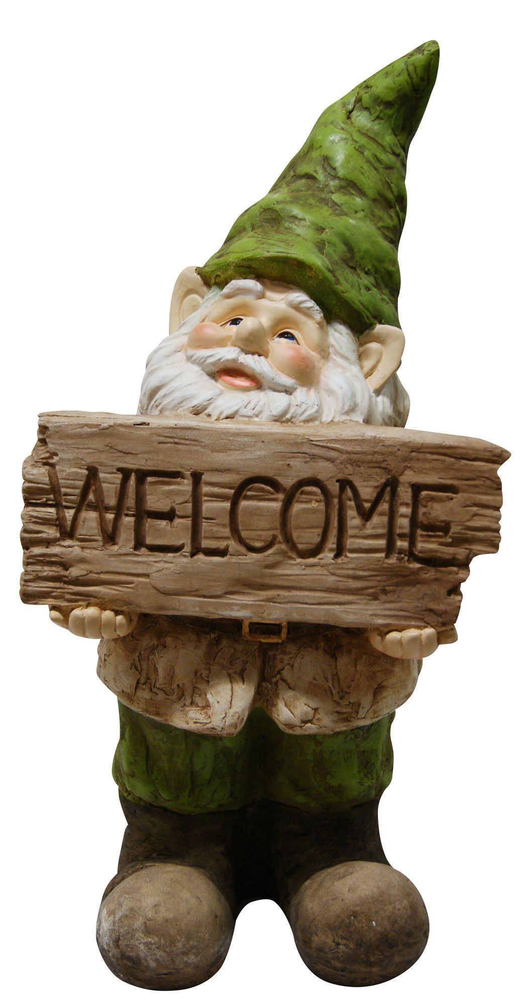 Gnome with Welcome Sign Statue