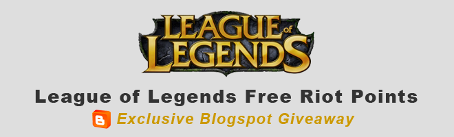 Riot point codes giveaway sweepstakes