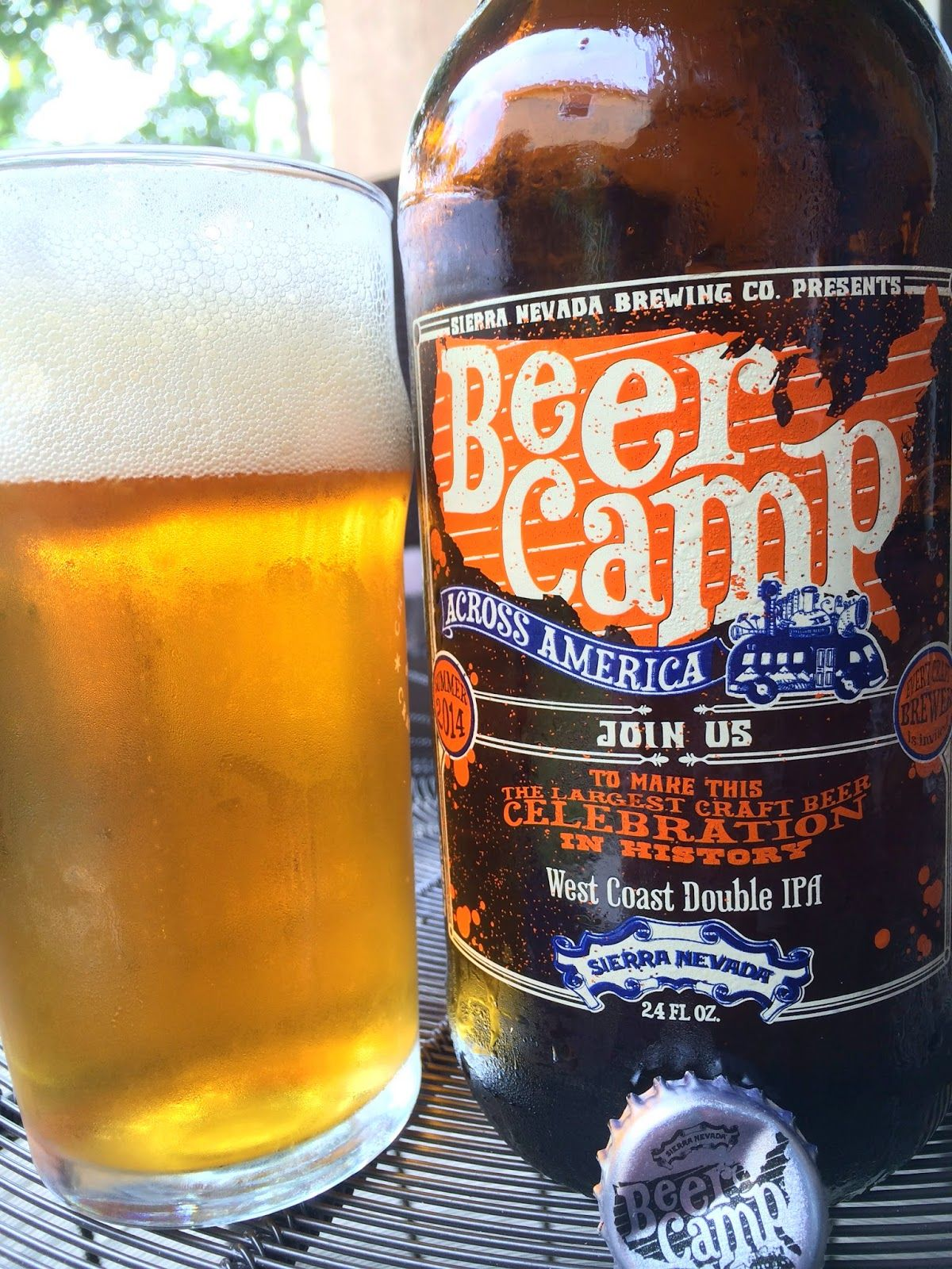 Beer Camp Across America West Coast Double IPA -- Citrus and pine aroma with a light fruitiness, not very powerful though. Orange malty sweet flavors start. Spicy, piney, lightly floral hops poke their way through next and actually take you all the way to the finish, where you will taste a little alcohol. Very simple beer.