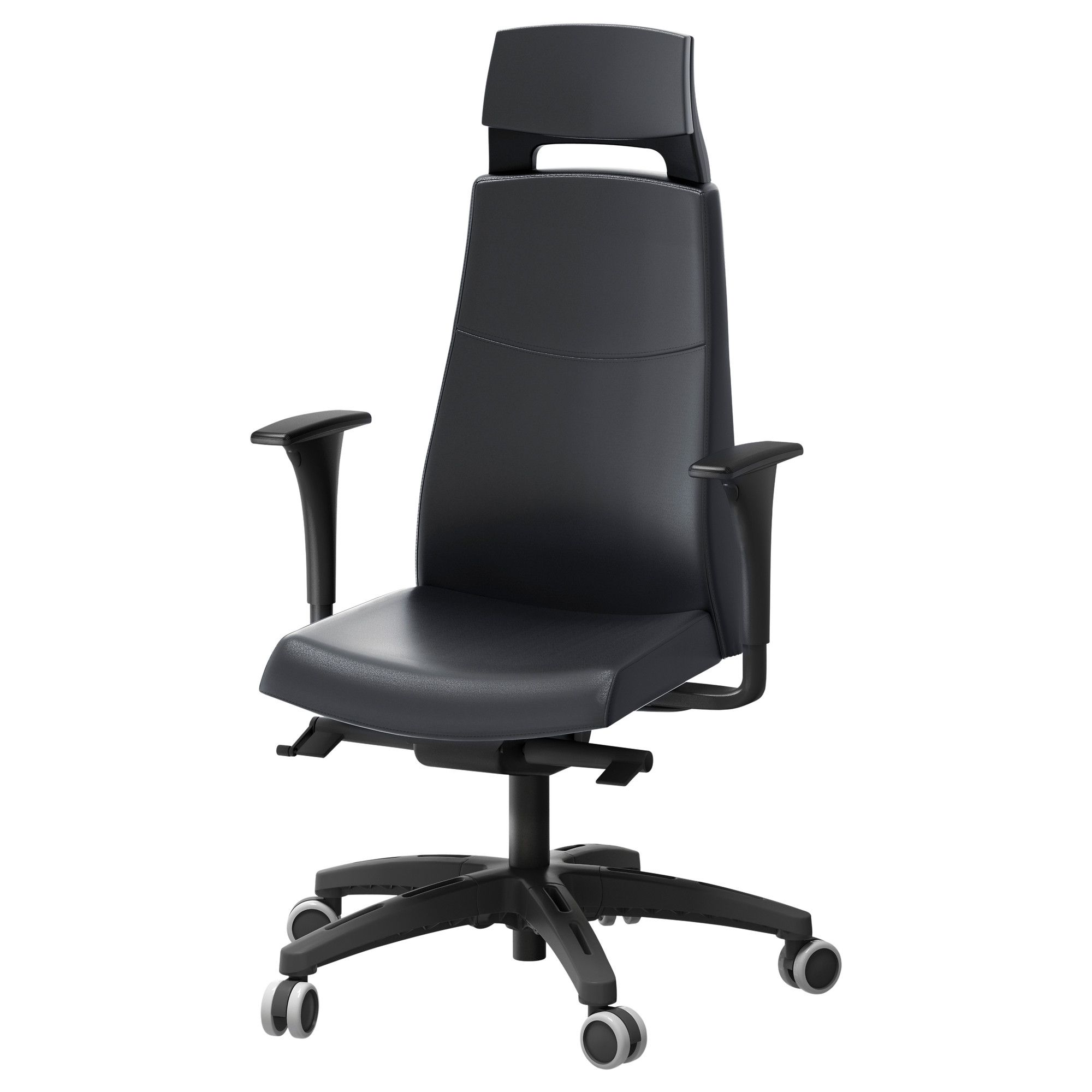 ikea chairs office. VOLMAR Swivel Chair With Headrest/armrests - Black IKEA Ikea Chairs Office