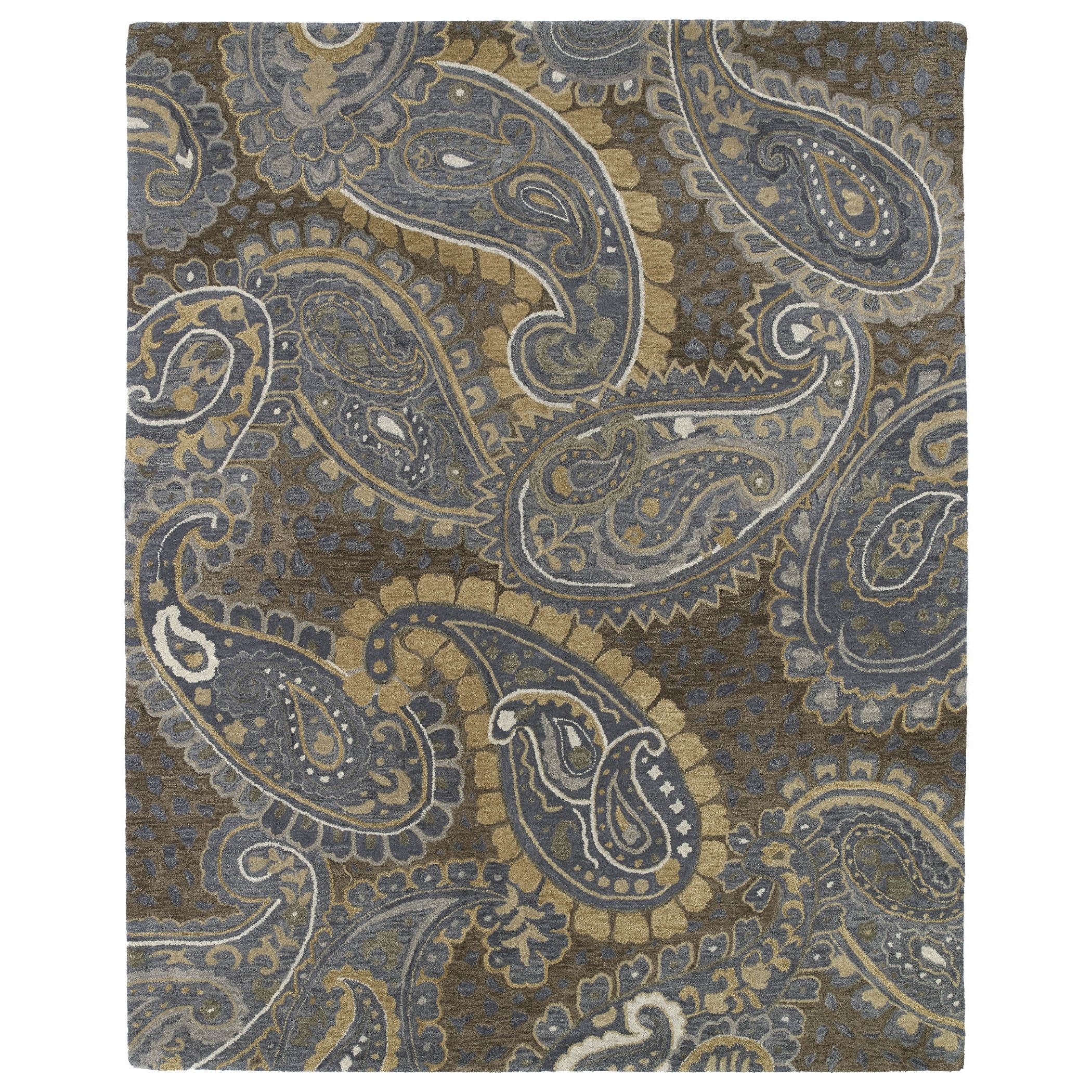 A trendy paisley pattern in rich browns and soft denim colors ...