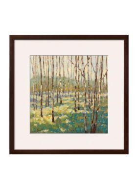 Art.com  Trees in Blue Green Framed Art Print - Online Only