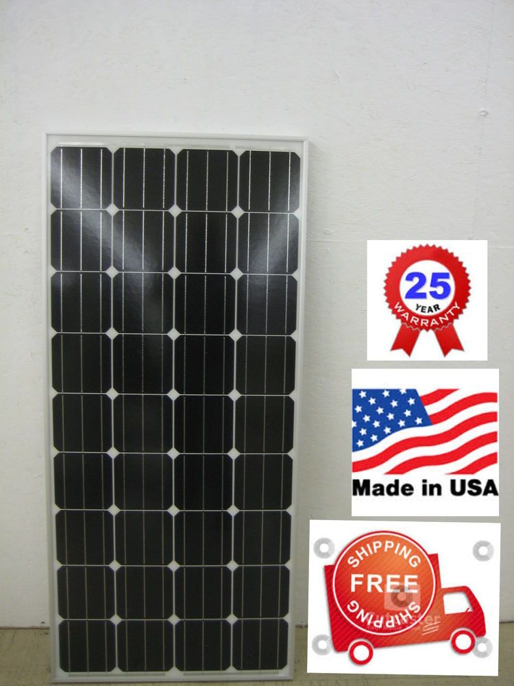 1 150 Watt 12 Volt Battery Charger Solar Panel Off Grid Rv Boat 150 Watt Total 12v Solar Panel Solar Panels Solar Power Batteries