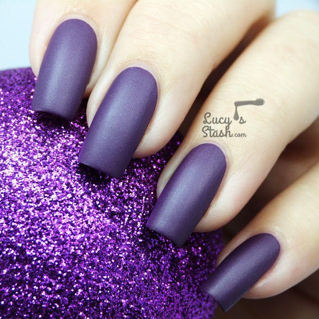 Deep Purple   Nails   Pinterest