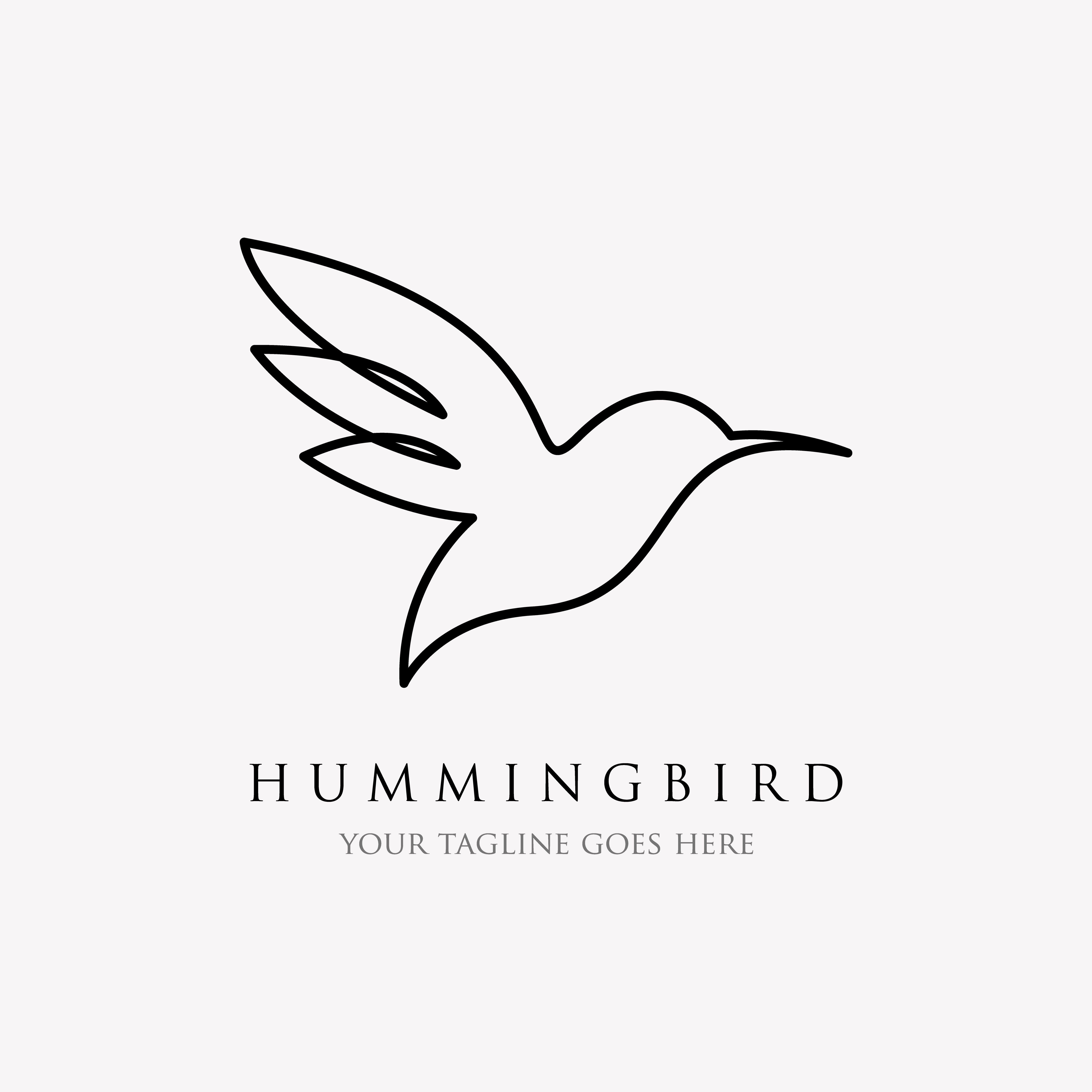 Hummingbird Line Logo Icon Designs Line Art Style And Minimalist By Linimasa Hummingbird Tattoo Black Black And Grey Tattoos Geometric Tattoo Arm