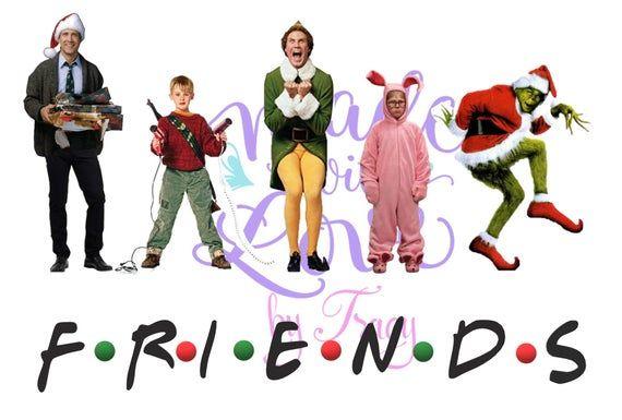 Christmas Movie Friends 2 - JPEG waterslide Sublimation instant downloadable printable clipart tumbler apparel