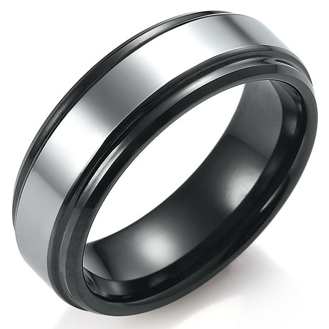 7mm Two Tone Tungsten Ring - Size X sFrXVicx