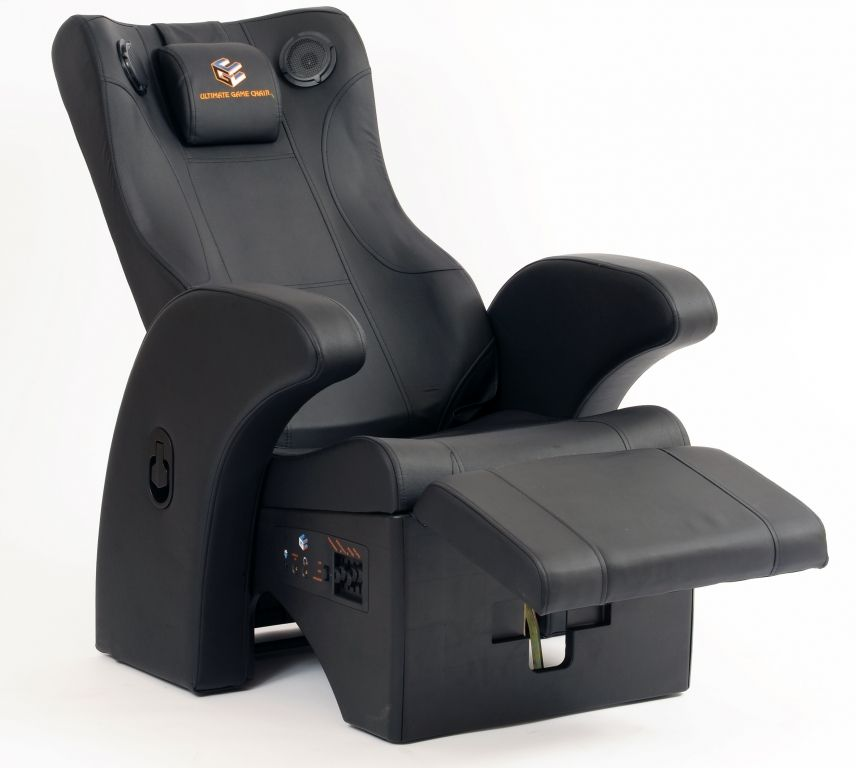 ultimate gaming chair 2012 fauteuil sp cial jeu vid o int grant connectiques et enceintes 350. Black Bedroom Furniture Sets. Home Design Ideas