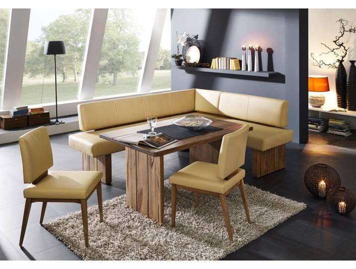 Photo of SUMMER  Moderne Eckbank aus Massivholz und Kunstleder/Stoff  Bestselle