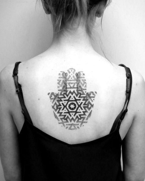 40 Flawless Hamsa Hand Tattoo Designs Tattooblend Geometric Hamsa Tattoo Hamsa Hand Tattoo Hand Tattoos