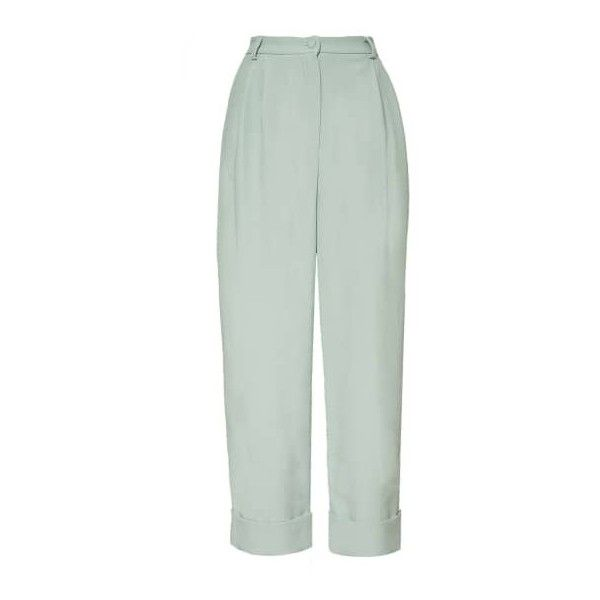 The Hebe Suit Powder Grey Boyfriend Pants Hebe Studio (£170) ❤ liked on Polyvore featuring pants, pant, grey pants, boyfriend pants, gray pants, gray trousers and grey trousers