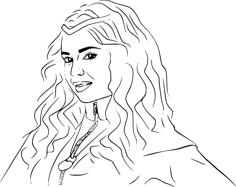 Descendants Coloring Pages Printable