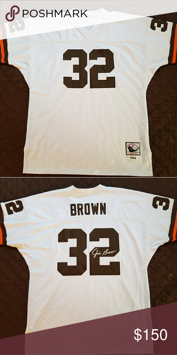 sports shoes 7aca7 81f22 Jim Brown #32 1964 Cleveland Browns Jersey