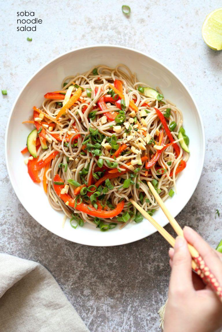 Cold Soba Noodle Salad Recipe With Sesame Lime Ginger Dressing