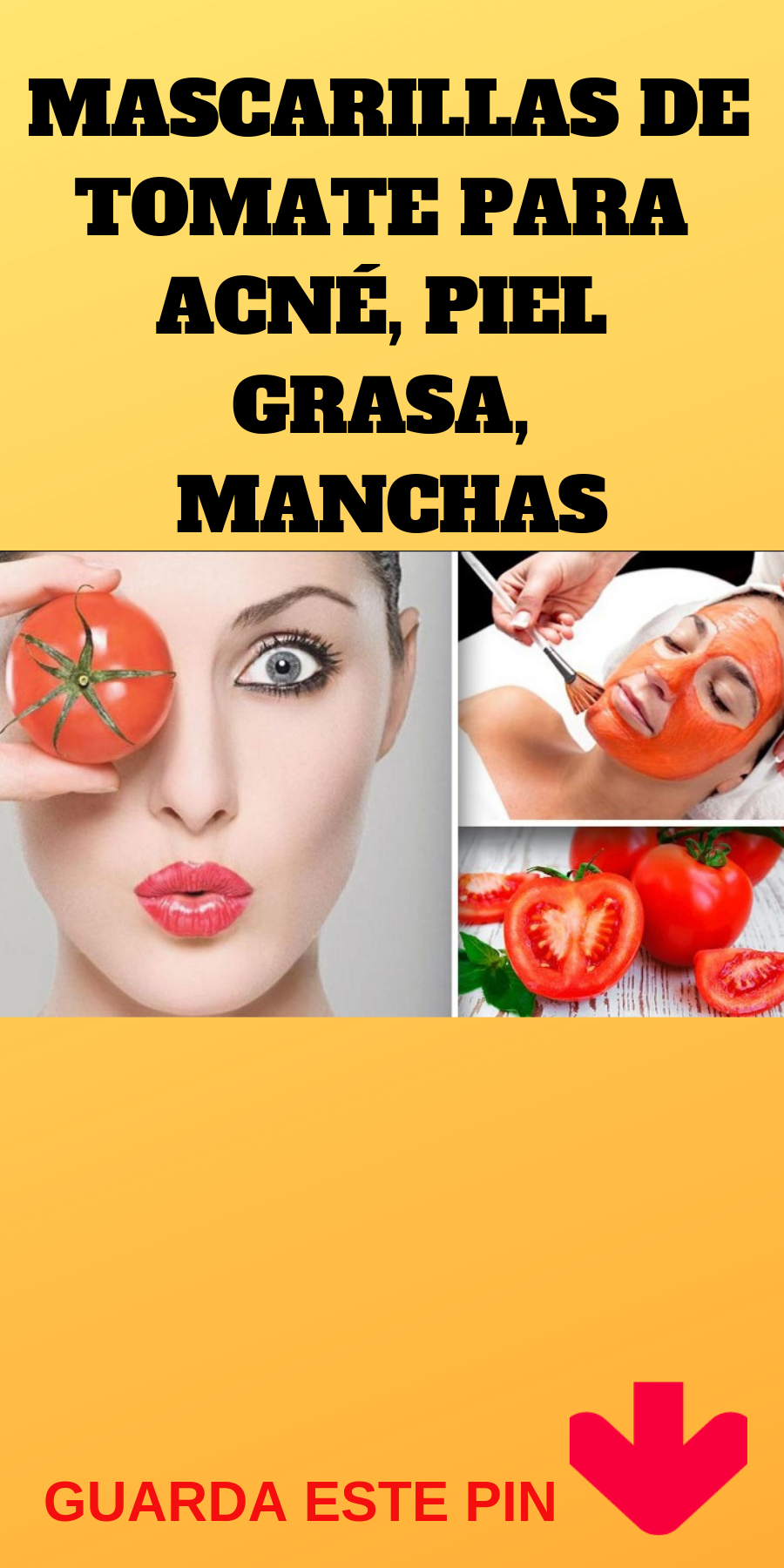 Acne mascarilla tomate